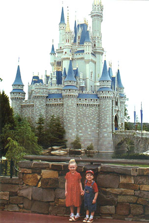 Autumn and Wiley in front of Cinderella's Castle