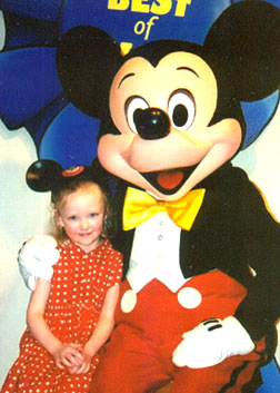 Autumn and Mickey Mouse