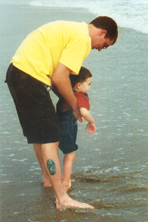 Wiley and Chad at Cocoa Beach
