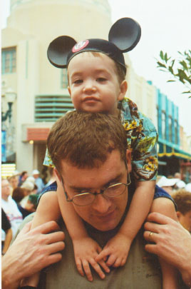 Wiley and Dad at Disney's MGM Studios