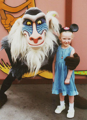 Autumn and Rafiki from the Lion King