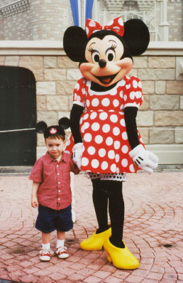 Wiley and Minnie Mouse